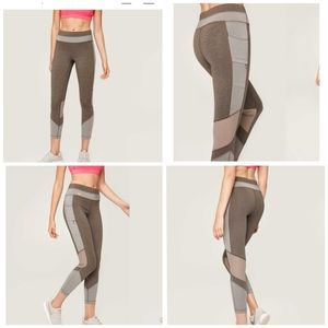 Lole Mid Rise Burst Ankle Leggings Gray Sm…